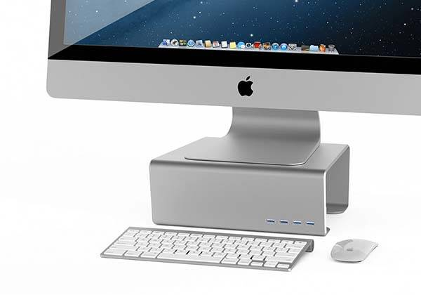 Satechi Premium Alumium Monitor Stand with USB 3.0 Hub