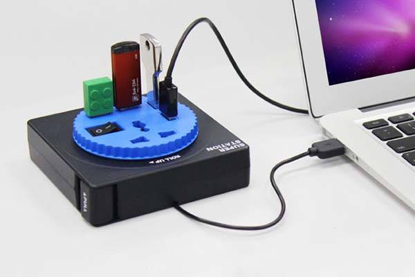 The 4-Port USB Hub with Power Socket