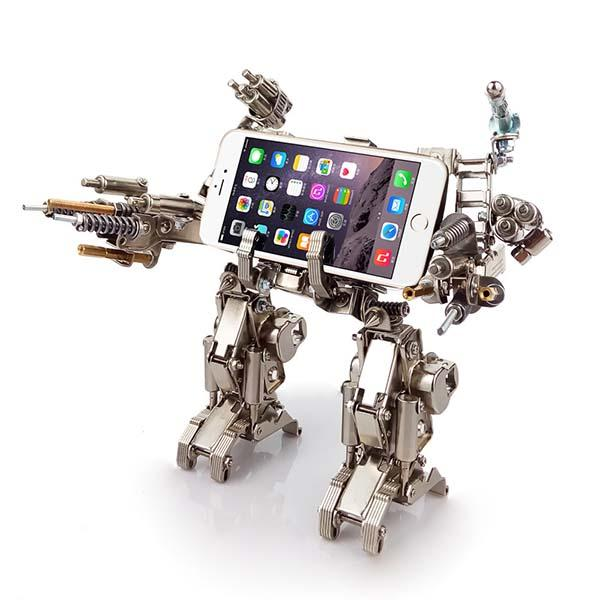 The Handmade Full Metal Robot Kit Phone Stands