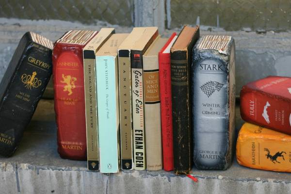 The Handmade Game of Thrones Brick Bookends