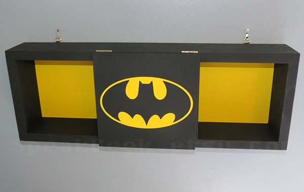 The Handmade Wooden Batman Wall Shelf