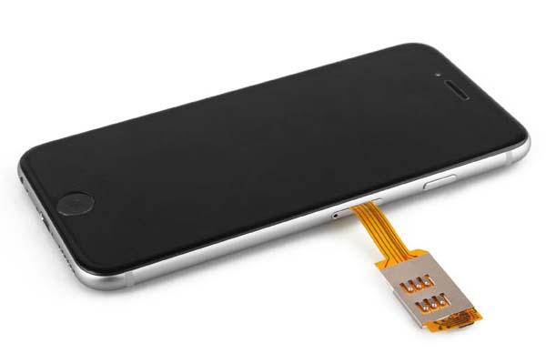 The iPhone 6 Case with Dual SIM Card Adapter
