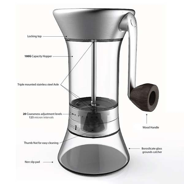 The Precision Coffee Grinder with 20 Coarseness Levels