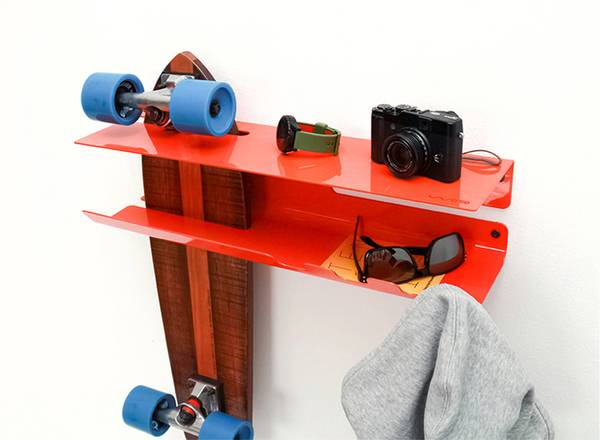 Wall Ride Wall Shelf Supports Your Skateboard