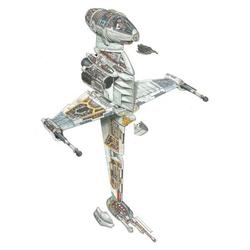 The Illustrations Shows You Detailed Star Wars Vehicle Cross-Sections