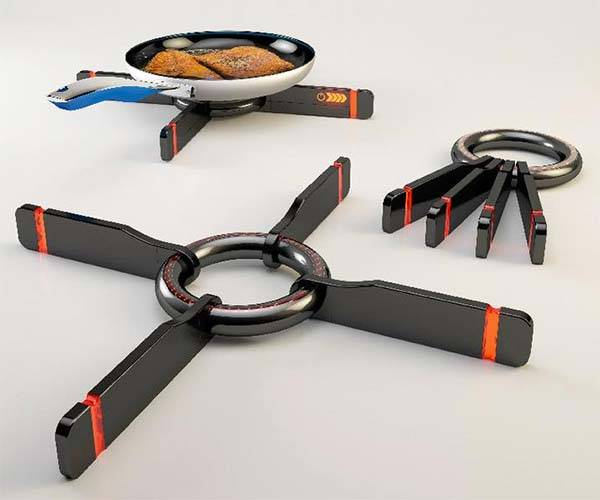 Clasp Range Ultra Portable Stove Powered by Rechargeable Battery