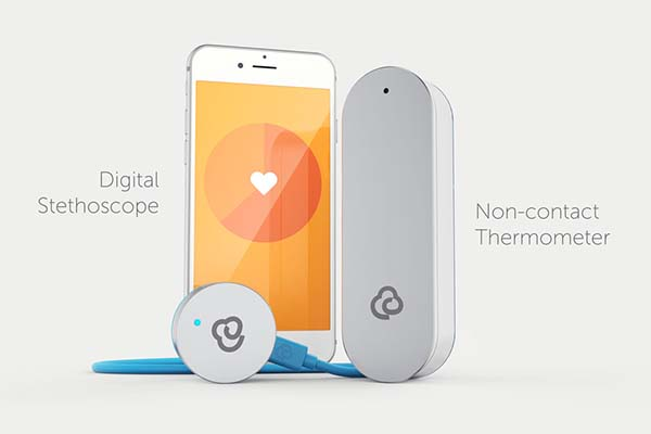 CliniCloud Connected Medical Kit Contains App-Enabled Stethoscope and Non-Contact Thermometer