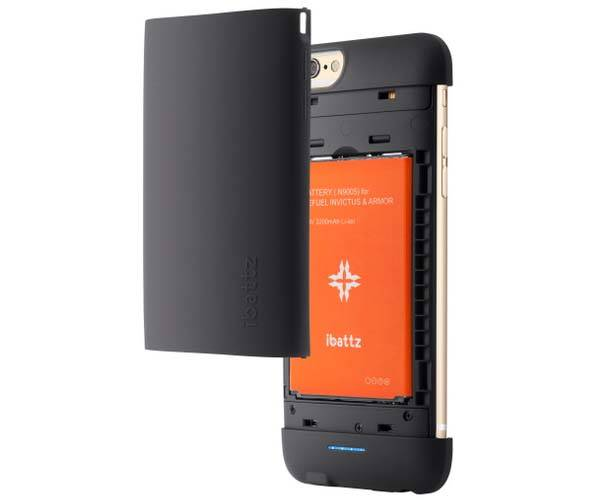 iBattz Mojo Refuel Invictus iPhone 6 Battery Case with Removable Backup Battery