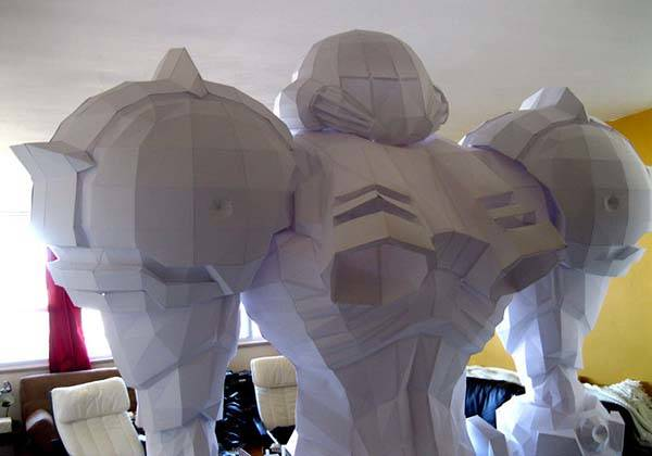 Life-Sized Metroid Samus Aran's Armor Suit Papercrafts