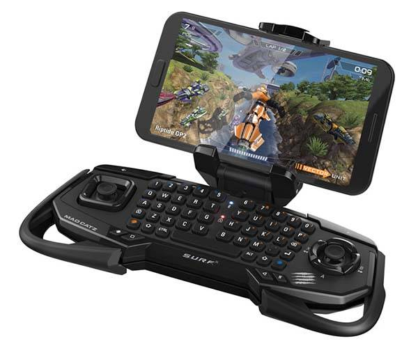 Mad Catz S.U.R.F.R Multimedia and Game Controller with QWERTY Keyboard