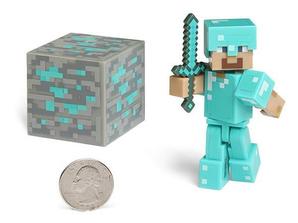 Minecraft Pixelated Action Figures