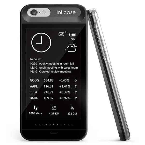Oaxis InkCase i6 iPhone 6 Case with an E-ink Display