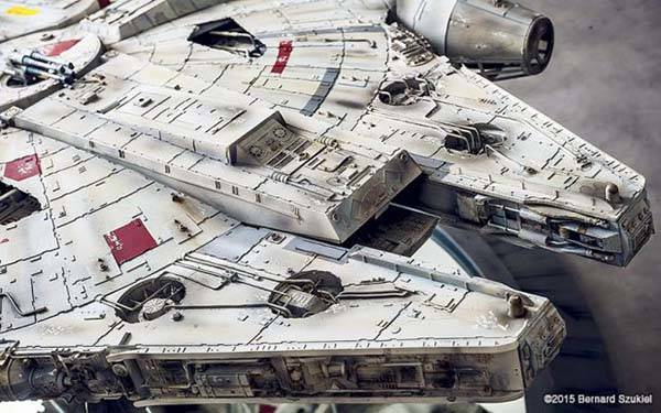 The Awesome Highly Detailed Papercraft Millennium Falcon