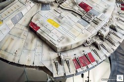 The Awesome Highly Detailed Papercraft Millennium Falcon with LED Illumination