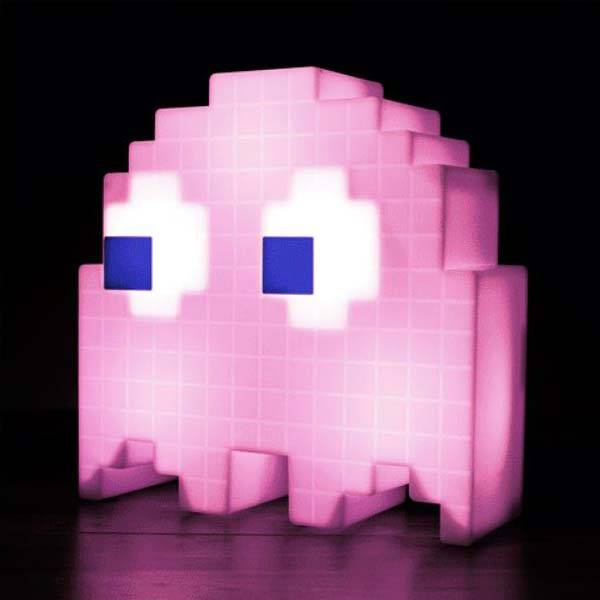 Pixelated Pac-Man Ghost USB Desk Lamp
