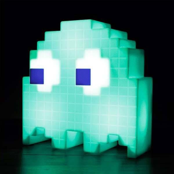 Pixelated Pac Man Ghost Usb Desk Lamp Gadgetsin