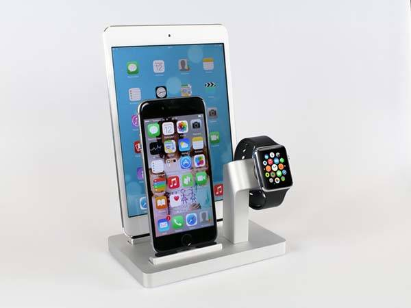 premium one docking station for apple watch and iphone gadgetsin. Black Bedroom Furniture Sets. Home Design Ideas