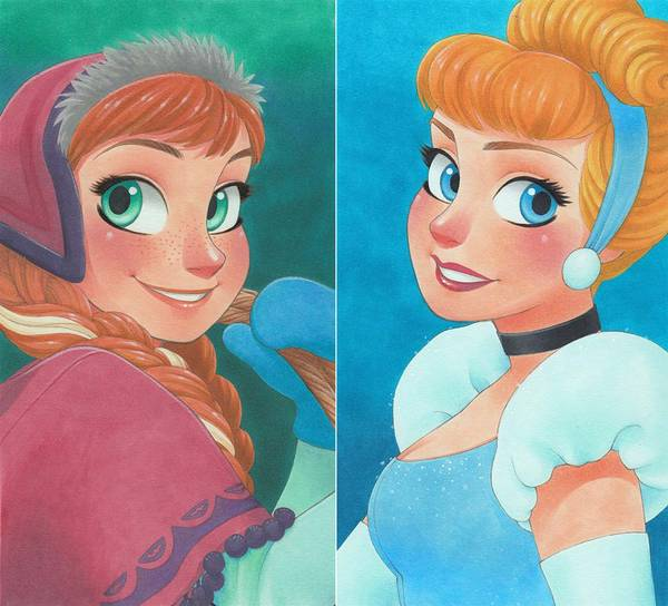 Pretty Cute Disney Princess Portraits By Chihiro Howe