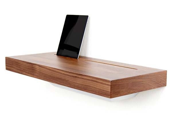 Stage Interactive Wall Shelf Works as a Charging Station