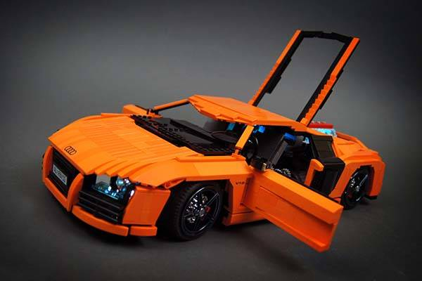 The Awesome Rc Audi R8 V10 Supercar Built With Lego Bricks