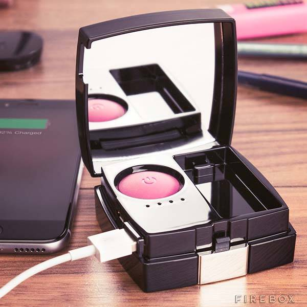 The Blush Compact Portable Charger is Female Friendly