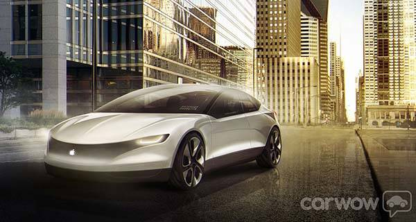 The Concept Apple Car with Touch ID Home Button