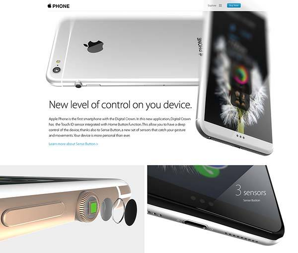 The Concept iPhone Features Apple Watch's Digital Crown