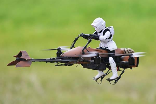 The FPV Quadcopter Star Wars Speeder Bike