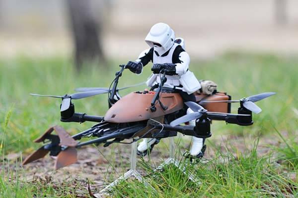The FPV Quadcopter Star Wars Speeder Bike