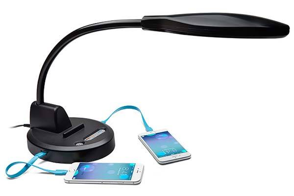The Magic LED Lamp with Integrated Charging Station