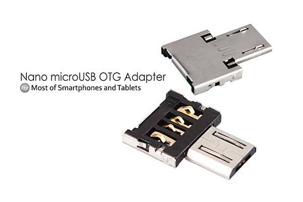 The Nano MicroUSB OTG Adapter Lets USB Devices Work with Android
