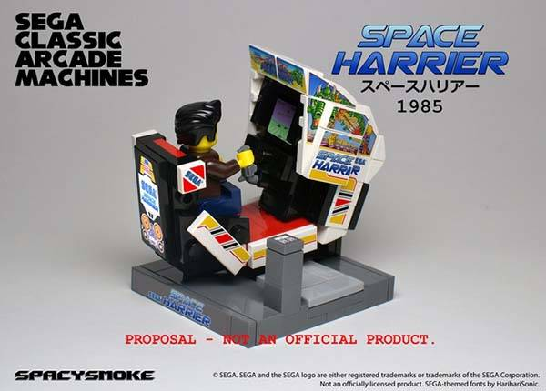The Sega Classic Arcade Machines Built with LEGO Bricks