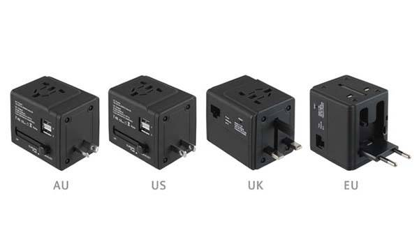 The Universal Travel Adapter with WiFi Router and Dual USB Charger