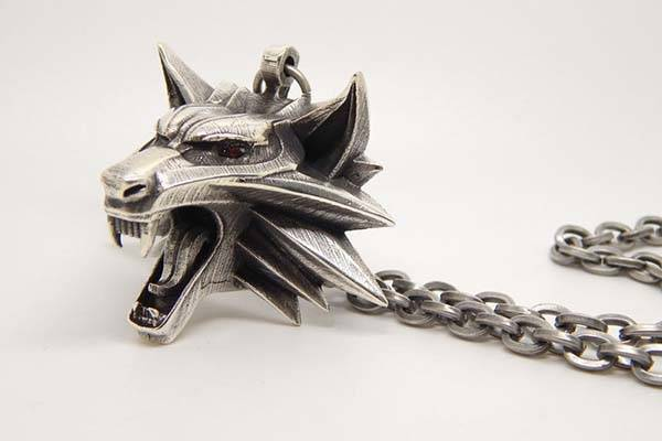 The Witcher Geralt of Rivia's Necklace with Wolf Head Pendant