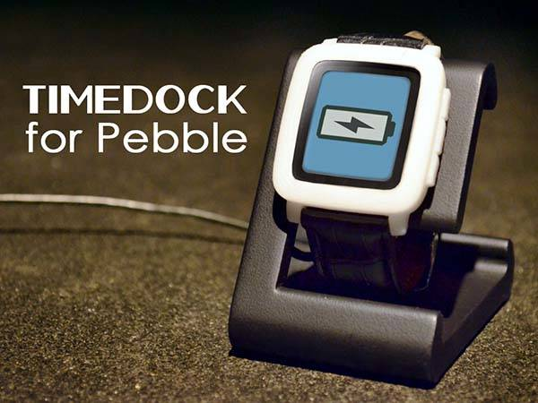 TimeDock Charging Station for Pebble Time Smartwatch