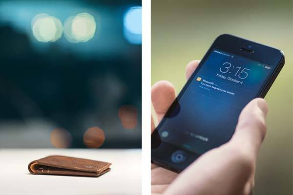 Woolet Slim Smart Wallet with Self-Charging Battery
