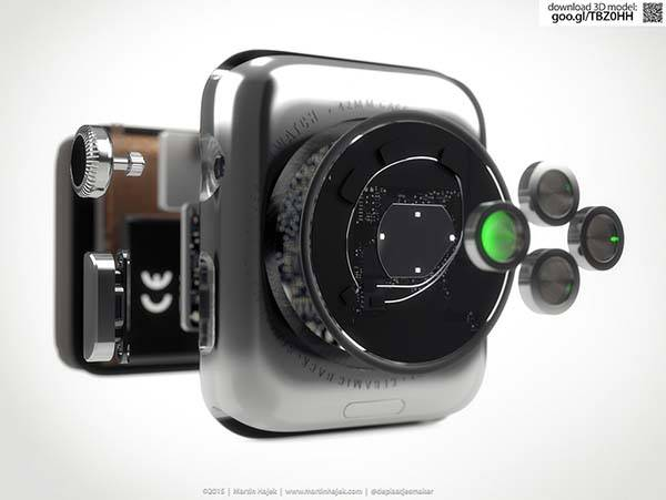 3D Rendered Apple Watch Teardown Displaying Meticulous Internal Detailing