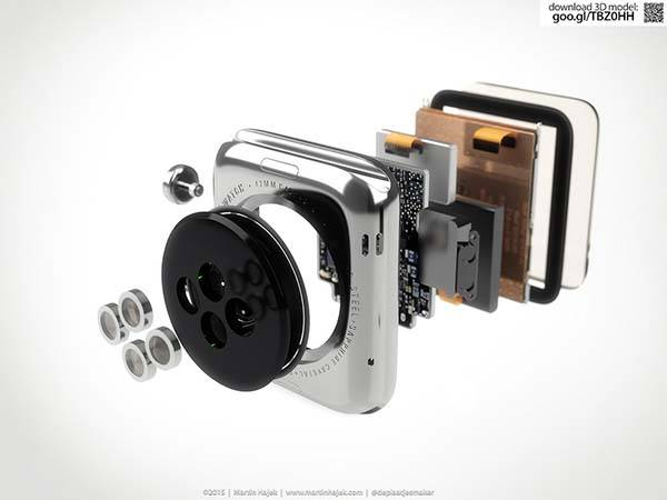3D Rendered Apple Watch Teardown Displaying Meticulous Internal Detailing