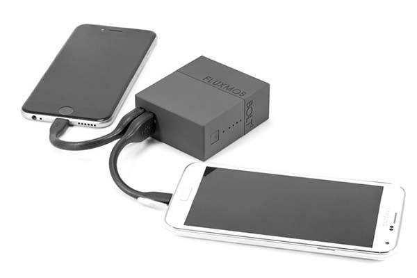 BOLT2 2.4A Power Bank with Wall Charger