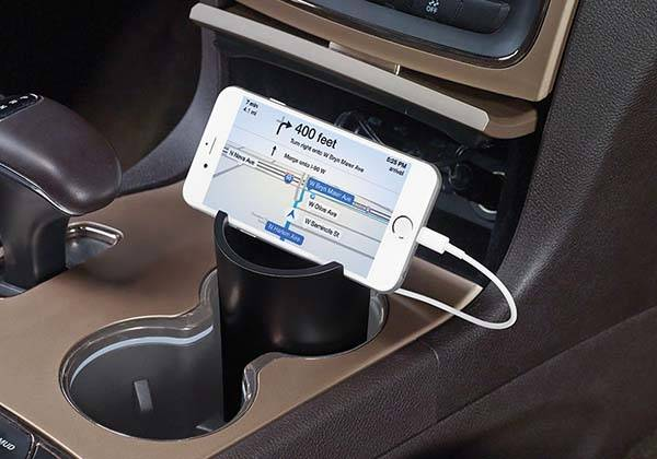 The Car Cupholder Charging Station