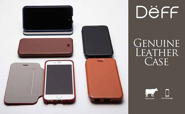 Deff Genuine Card Flip Type Leather iPhone 6 Case