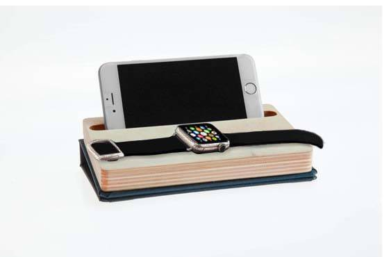 DODOCase Book-Styled Dual Charging Station and Cable Organizer