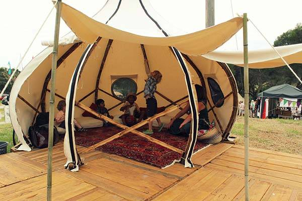 froute pod an onionlike tent brings you comfortable