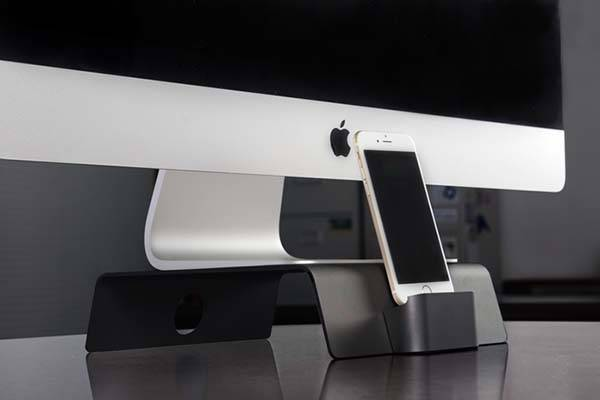 Fusion iMac Stand with Integrated Docking Station for Smartphones