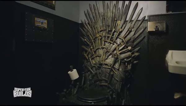 Awesome Game of Thrones Iron Throne Toilet by Super Fan Builds