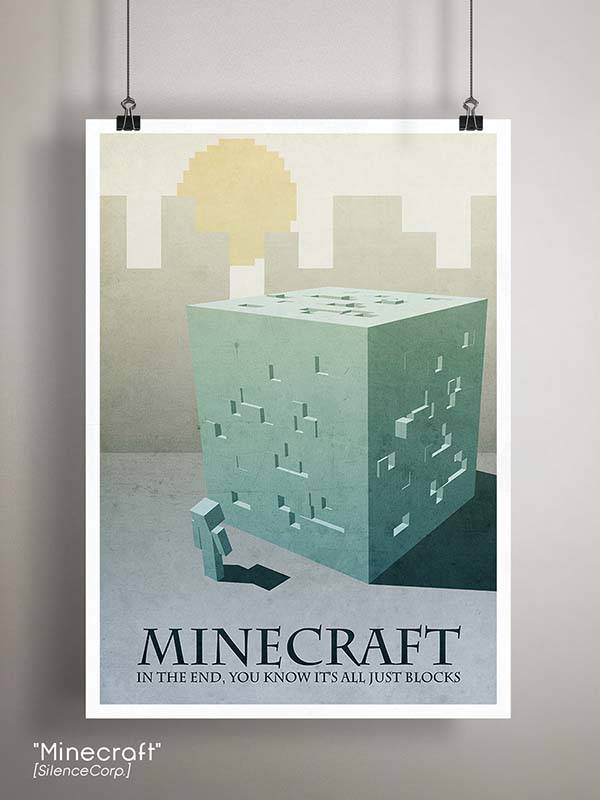 Gaming Room Poster Series - Minecraft