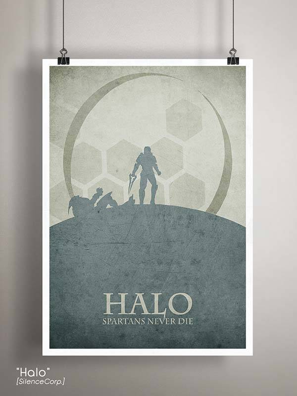 Gaming Room Poster Series - Halo