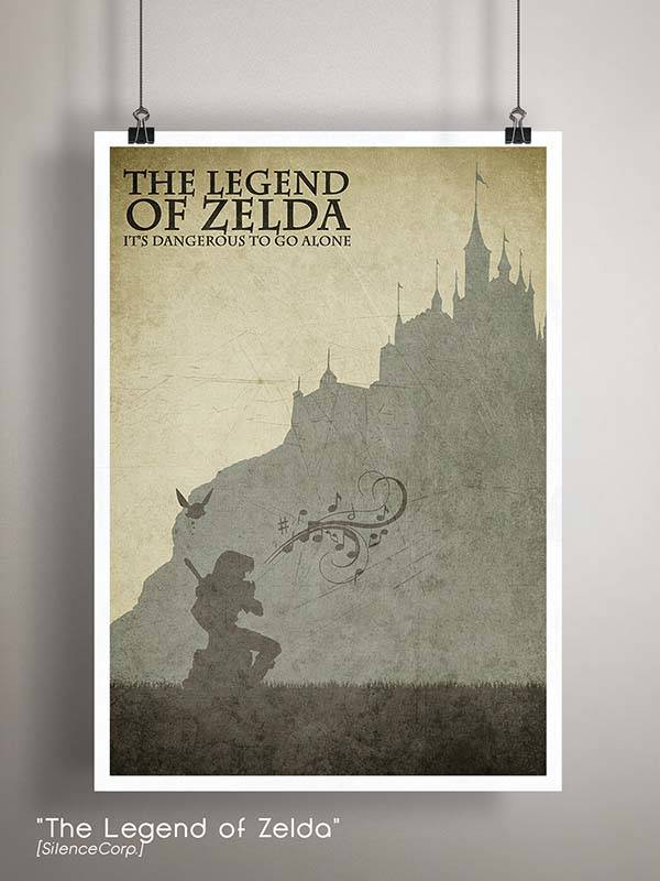 Gaming Room Poster Series - The Legend of Zelda