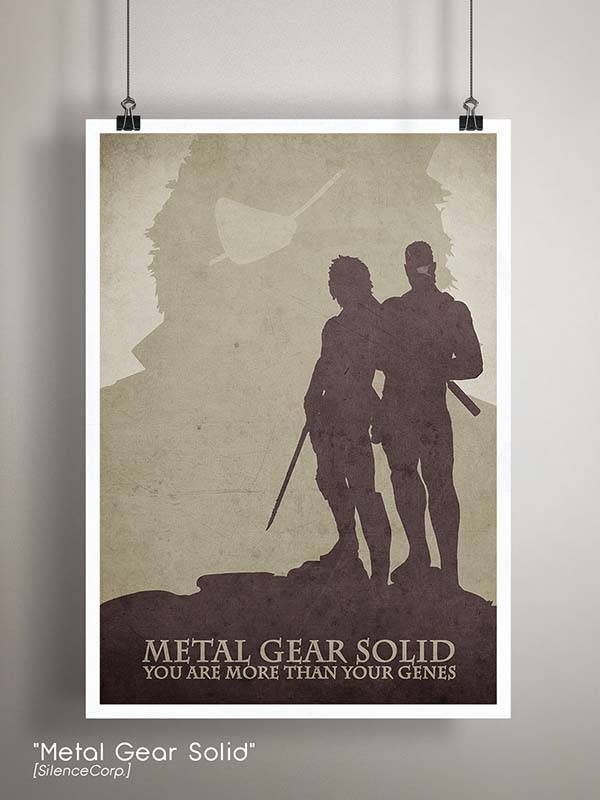 Gaming Room Poster Series - Metal Gear Solid