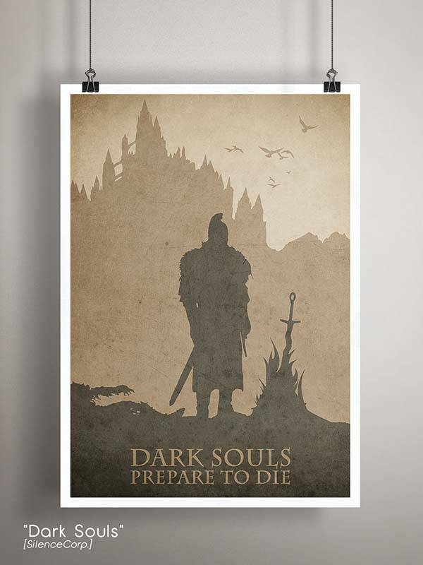 Gaming Room Poster Series - Dark Souls